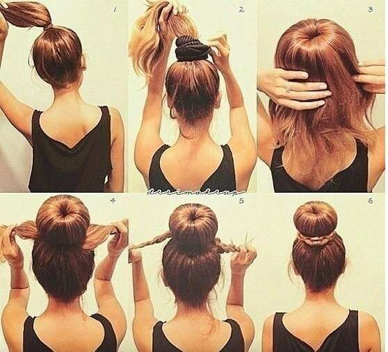Стрижки на средние волосы схема