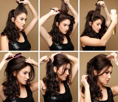 Прическа для негустых средних волос