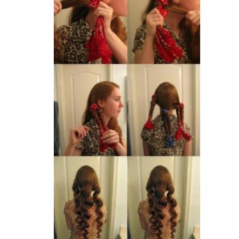 Фото: сочетайте косы и тряпочки