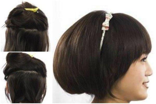 Хотите эпатировать окружающих неожиданный сменой имиджа, советуем сделать «стрижку без стрижки», искусно спрятав длину волос