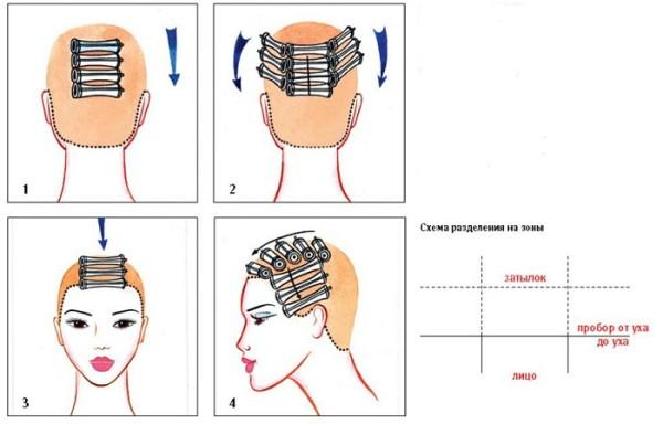 Инструкция по делению и завивке горизонтальным методом