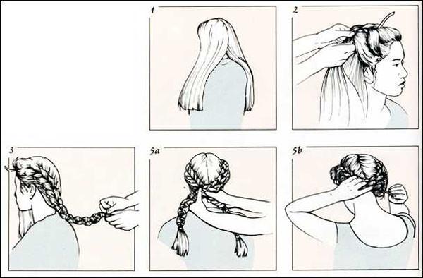 Инструкция по плетению косы в греческом стиле