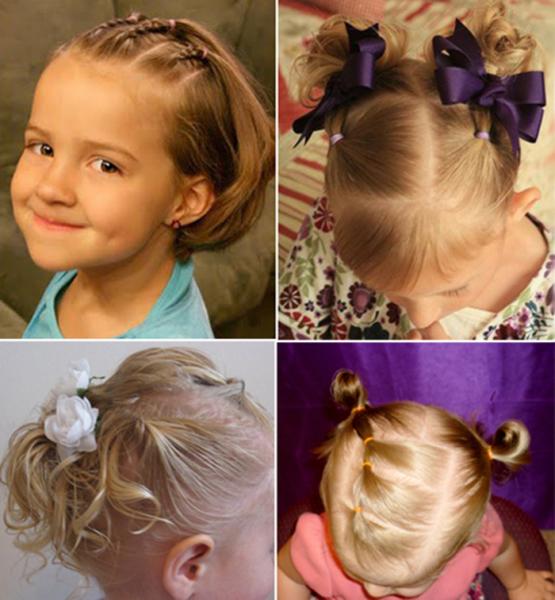 Прически детские на средние волосы в домашних условиях фото