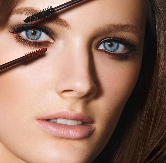 Фото макияж с коричневой тушью
