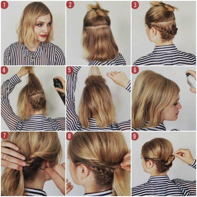 Как сделать лёгкую причёску для коротких волос