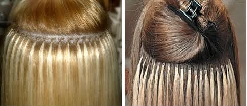 Разделение волос при наращивании