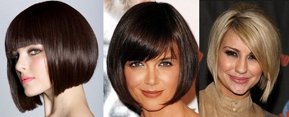 Причёски каре фото на средние волосы с челкой
