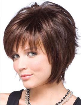Прически для тонких волос для круглого лица