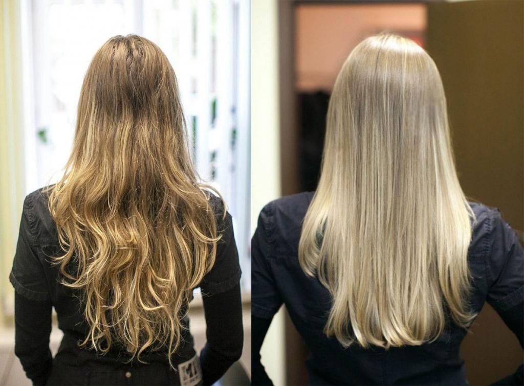 Красить волосы до кератинового выпрямления или после