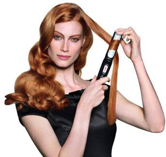 Классический метод, как завить волосы на утюжок