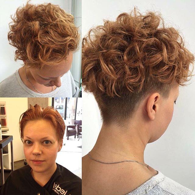 Причёски на короткие волосы с химической завивкой