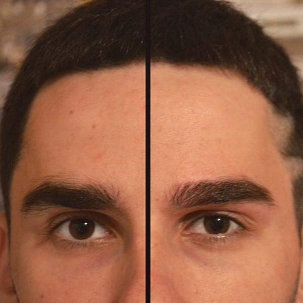 Коррекция бровей у мужчин: фото до и после