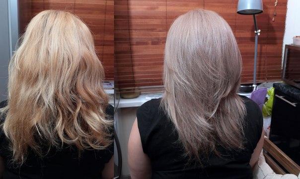 Тонирование светлых волос краской