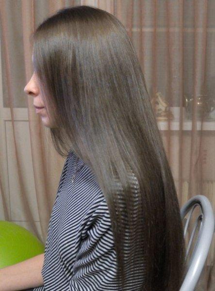 Красота темно-русых волос