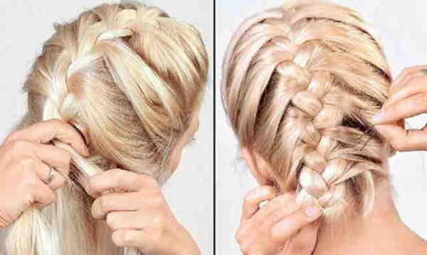 Легкий эффект небрежности сейчас в тренде, можно слегка распушить косу.