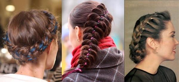 Ленты в косах всегда добавляют образу романтичности и женственности