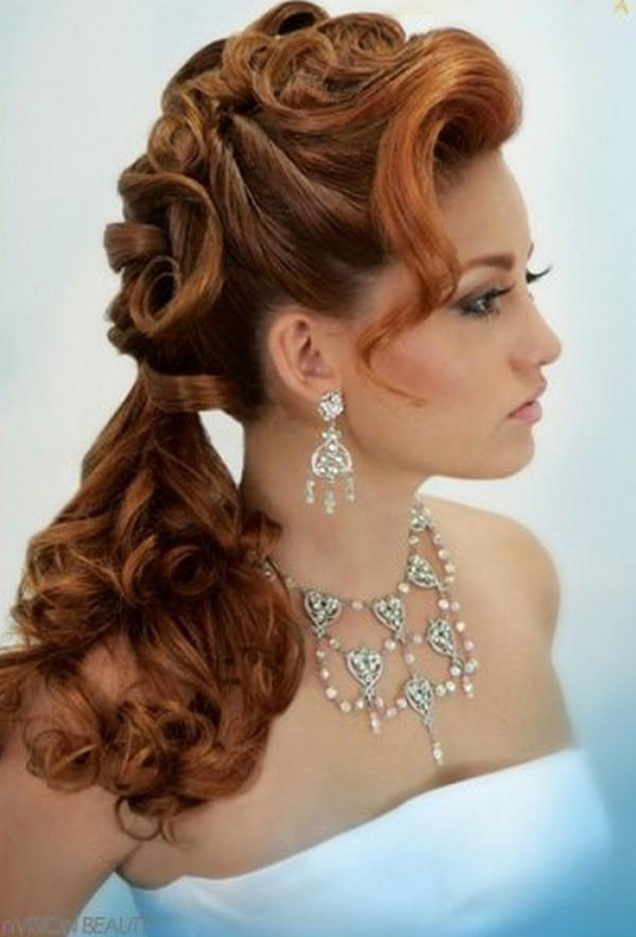 посмотреть свадебные прически на длиные волосы