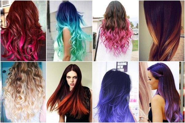 В какой цвет покрасить кончики волос блондинке