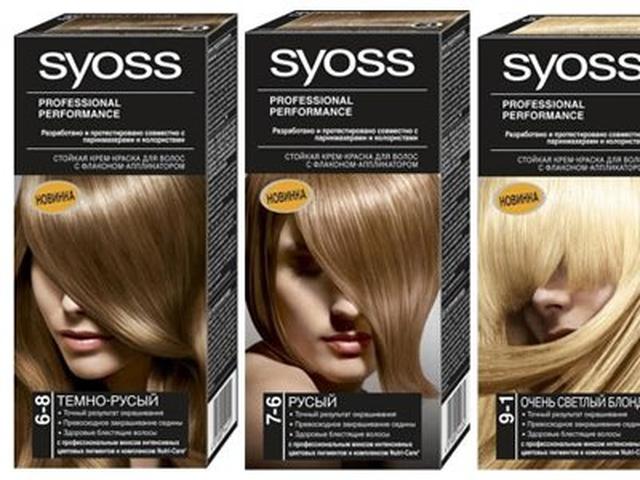 Краска syoss золотистый темно-русый на темные волосы