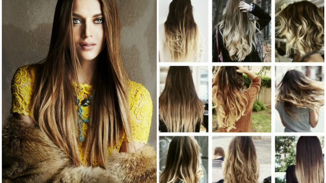 Золотистые кончики на волосах