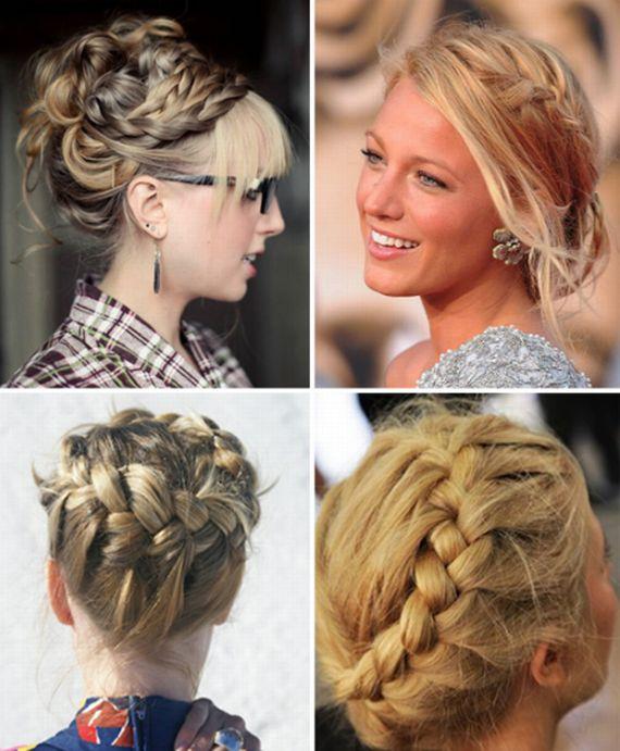 Как сделать прически из кос на средние волосы8