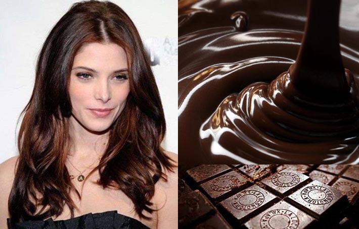 Фото волосы цвета-шоколад