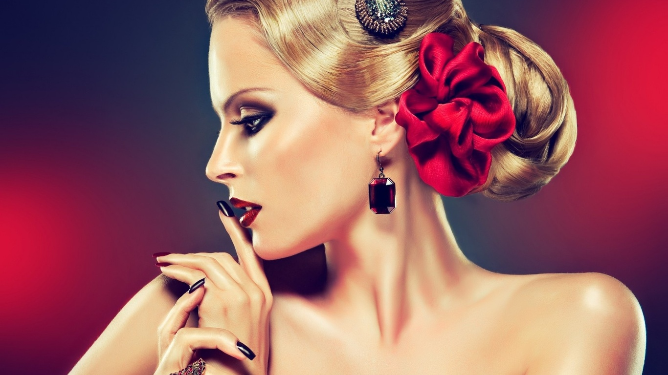 Фото девушки с прической и макияжем