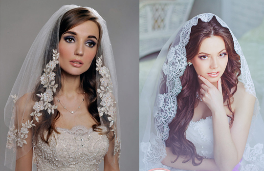 Свадебные прически с фатой на волосы (54 фото): короткие, длинные, средние, видео-инструкция по укладке своими руками, фото и цена
