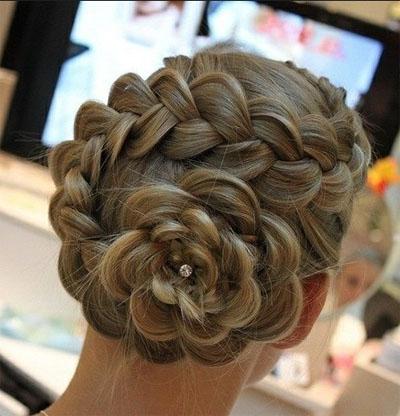 Прически цветы из волос