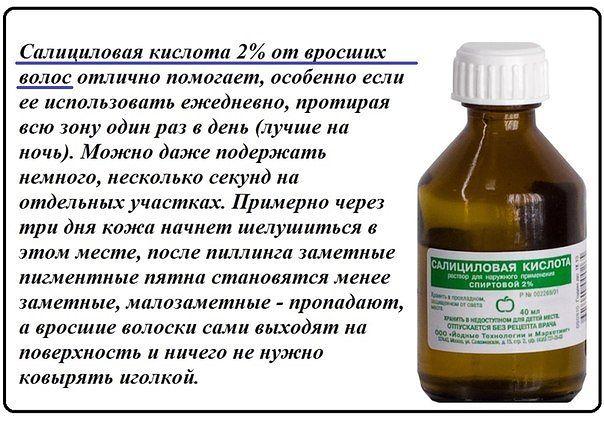 Салициловая кислота от выпадения волос