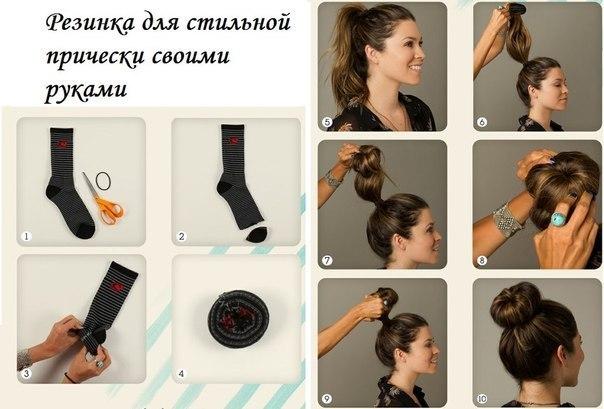 Как из волос сделать резинку
