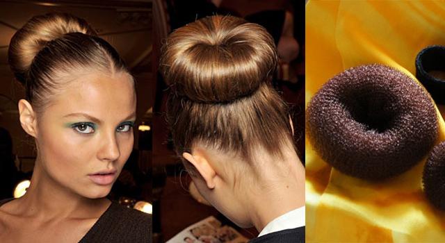 Как сделать бабетту на голове из волос с помощью резинки