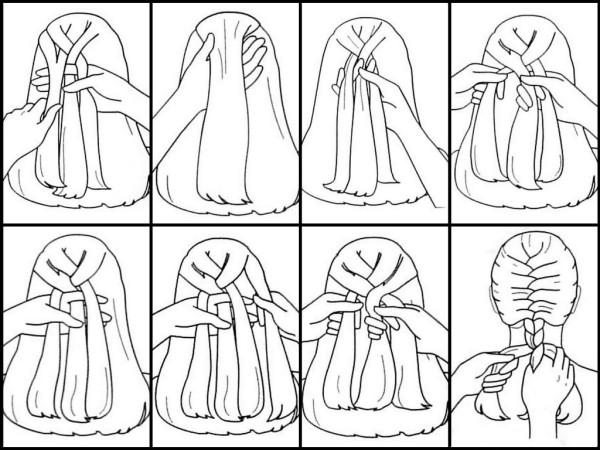 На фото представлена техника плетения классического дракончика