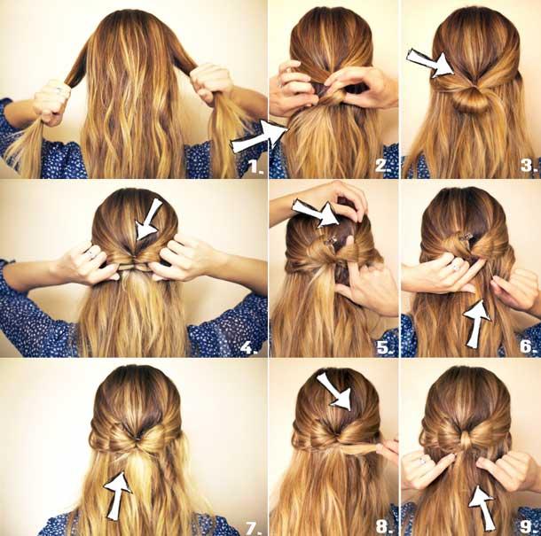 Легкие прически в школу на длинные волосы своими руками