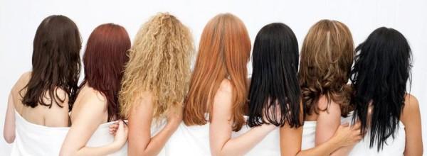 На фото вы видите различные волосы