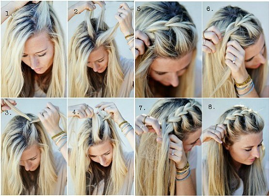 Простые косы на каждый день
