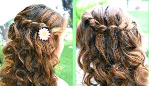 На волнистых и кудрявых волосах косы смотрятся как-то по-особенному