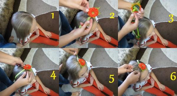 Начало создания косички