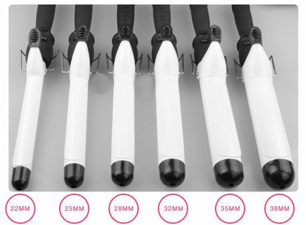 Наиболее популярный диаметр щипцов для завивки варьируется в пределах от 2,2 см до 3,8 см