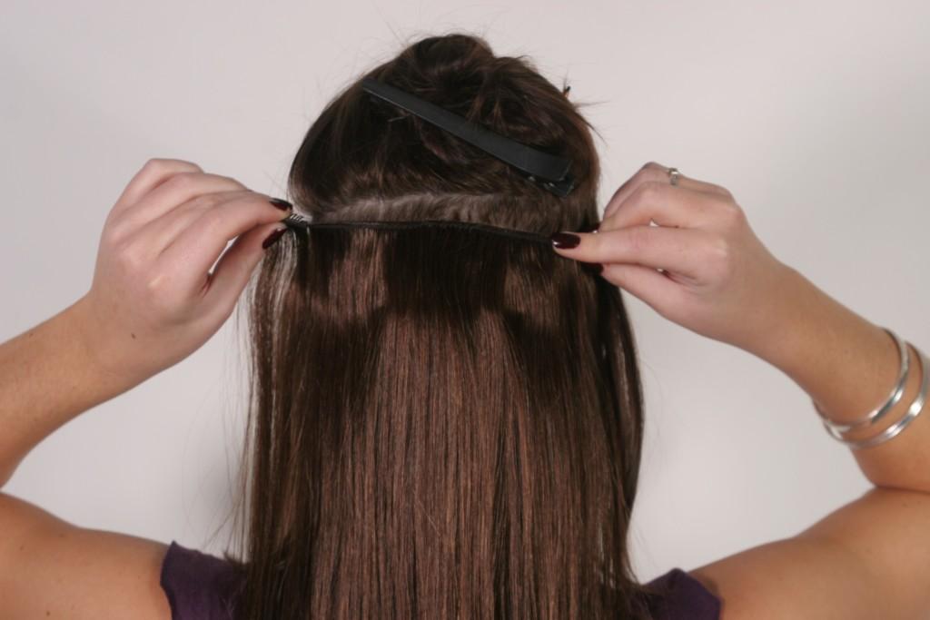 Трессы на заколках из натуральных волос купить