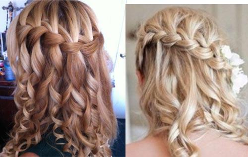 Накручивать волосы лучше после плетения, завивая отдельно каждую выпущенную прядь