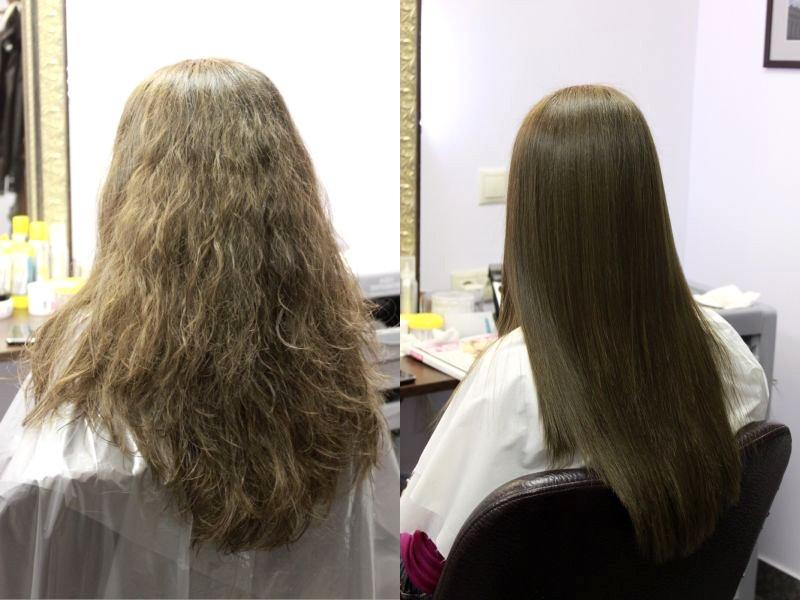 Как наносить на волосы кератин
