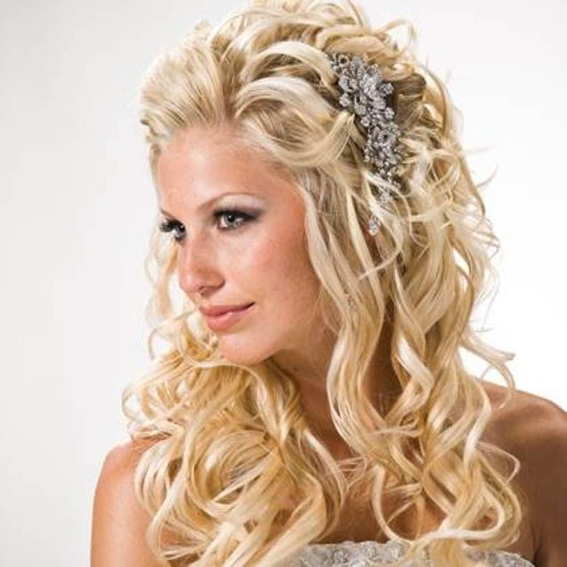 Свадебные прически из длинных распущенных волос фото