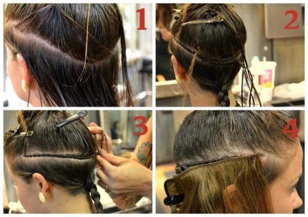 Наращивание волос с помощью косичек - самое безвредное для вашей шевелюры.