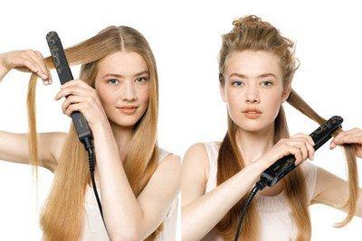 Не делайте завивку мокрых волос!