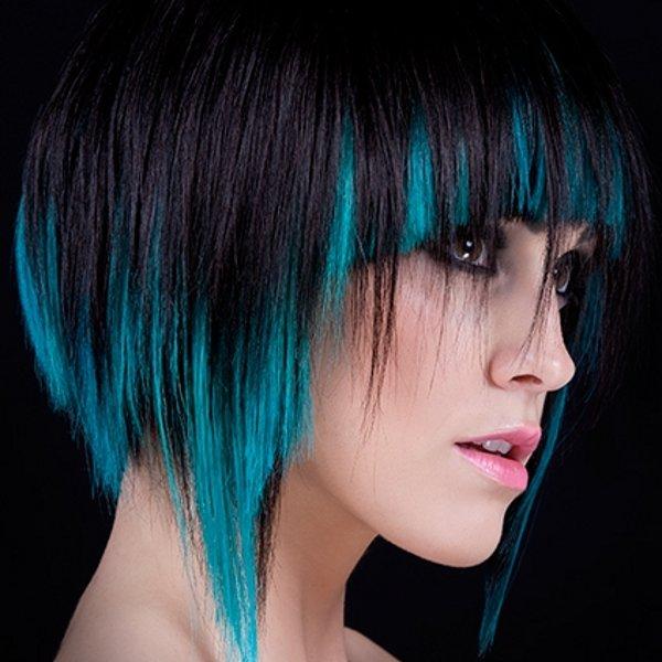 Волос окраска перьями