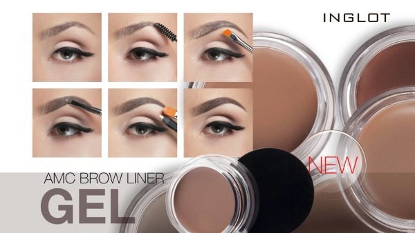 Небольшая инструкция о том, как оформить брови своими руками с помощью Inglot AMC brow liner gel