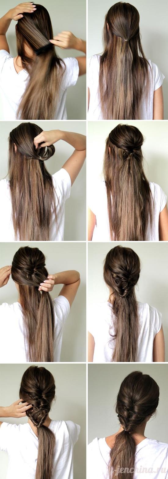 прически длинных волос на каждый день