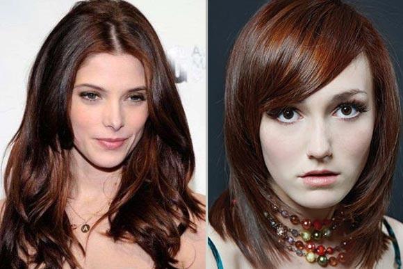 Цвет волос шоколадно-рыжий