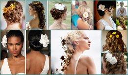 Новый образ дарят прически с цветами в волосах